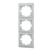 Рамка 3-ая (222х82х8,5 мм) вертикальная Lezard Mira белый 701-0200-153