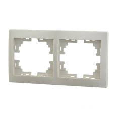 Рамка 2-ая (147х82х8,5 мм) горизонтальная Lezard Mira крем 701-0300-147