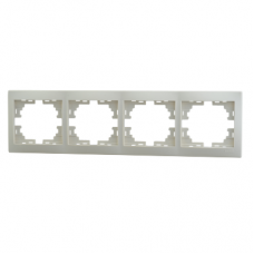 Рамка 4-ая (297х82х8,5 мм) горизонтальная Lezard Mira крем 701-0300-149