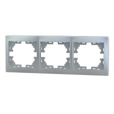 Рамка 3-ая (222х82х8,5 мм) горизонтальная Lezard Mira алюминий 701-1000-148