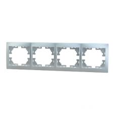 Рамка 4-ая (297х82х8,5 мм) горизонтальная Lezard Mira алюминий 701-1000-149
