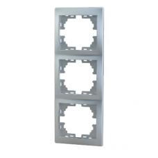 Рамка 3-ая (222х82х8,5 мм) вертикальная Lezard Mira алюминий 701-1000-153