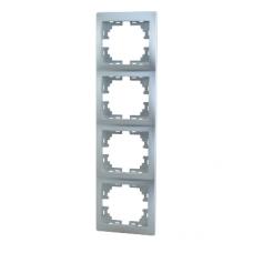 Рамка 4-ая (297х82х8,5 мм) вертикальная Lezard Mira алюминий 701-1000-154