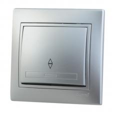 Выключатель 1-клавишный Lezard Mira алюминий 701-1010-100