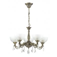 Люстра подвесная Lumion 2958/5 бронза/хрусталь/стекло E27 5*60W 220V NORA