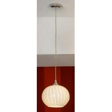 Светильник подвесной Lussole LSF-7206-01 Cesano, 1 плафон, хром, белый с прозрачным