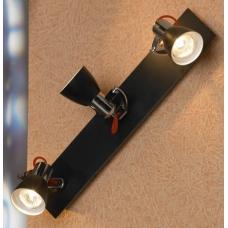 Светильник спот Lussole LSL-7401-03 Frontino, 3 плафона, хром с черным