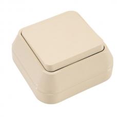 Выключатель накладной 1 клавиша проходной Makel крем 45205