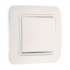 Выключатель 1-клавишный Makel Lilium белый 71001