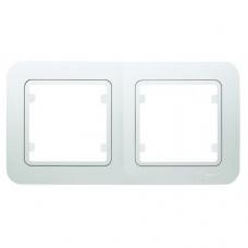 Рамка 2-ая (155×80 мм) Makel Lilium белый 71012