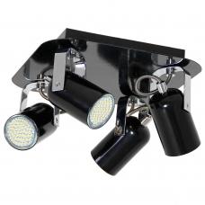 Светильник спот Luminex NICK 6143 чёрный, хром