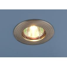 Точечный светильник круглый 601 MR16 SN сатин никель