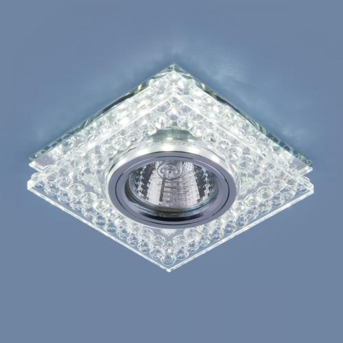Точечный светодиодный светильник 8391 MR16 CL/SL прозрачный/серебро
