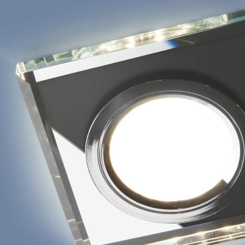 Встраиваемый точечный светильник со светодиодной подсветкой 2229 MR16 SL зеркальный/серебро