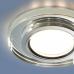 Встраиваемый точечный светильник со светодиодной подсветкой 2227 MR16 SL зеркальный/серебро