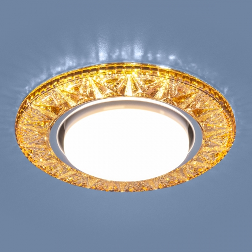 Точечный светодиодный светильник 3022 GX53 GD золото
