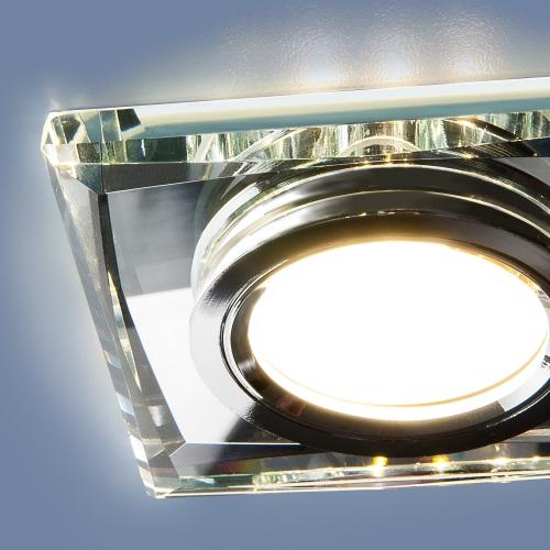 Встраиваемый точечный светильник со светодиодной подсветкой 2230 MR16 SL зеркальный/серебро