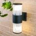 Уличный настенный светильник 1411 TECHNO чёрный