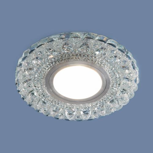 Встраиваемый точечный светильник с LED подсветкой 2236 MR16 CL прозрачный
