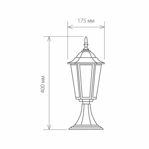 Ландшафтный светильник IP44 GL 1004S черный