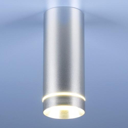 Накладной потолочный светодиодный светильник DLR022 12W 4200K хром матовый