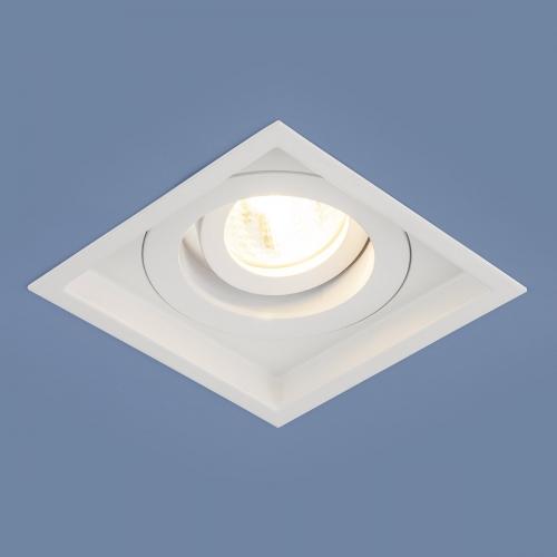 Алюминиевый точечный светильник 1071/1 MR16 WH белый