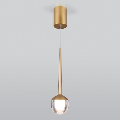 Подвесной светодиодный светильник DLS028 6W 4200K золото