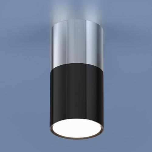 Накладной потолочный  светодиодный светильник DLR028 6W 4200K хром/черный хром