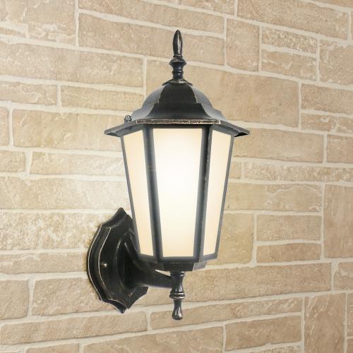 Уличный настенный светильник GL 1004U черное золото