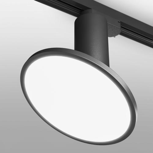 Трековый светодиодный светильник для однофазного шинопровода Brain Черный 12W 4200K LTB50