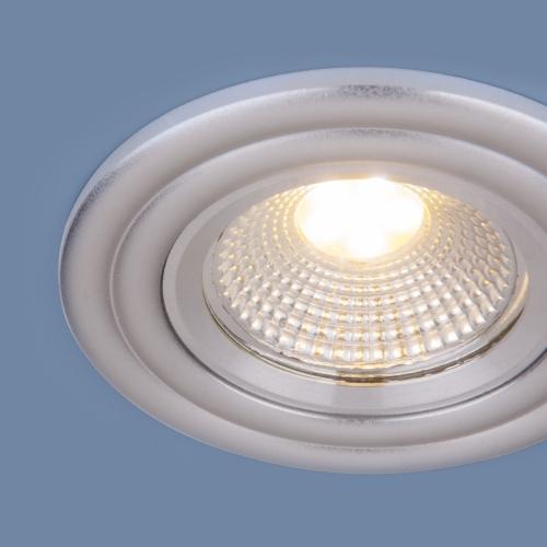 Встраиваемый точечный LED светильник 9902 LED 3W COB SL серебро