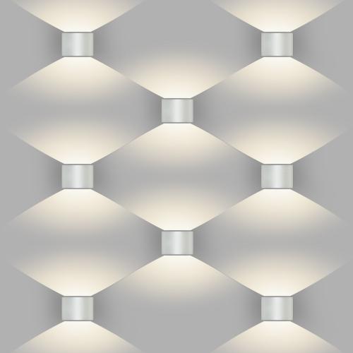 Blade белый уличный настенный светодиодный светильник 1518 TECHNO LED