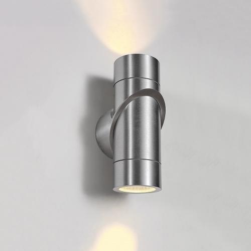 Vortex хром уличный настенный светодиодный светильник 1553 TECHNO LED