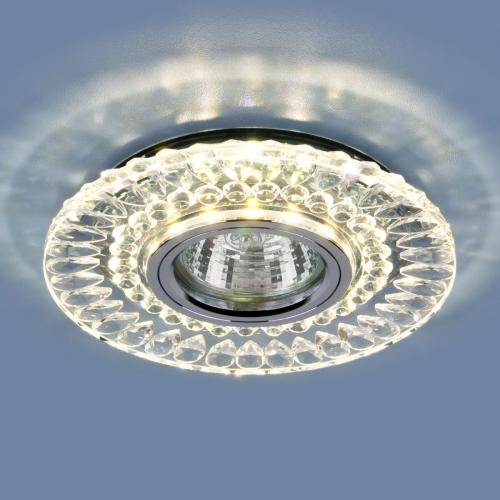 Точечный светодиодный светильник 2197 MR16 CL/SL прозрачный/серебро
