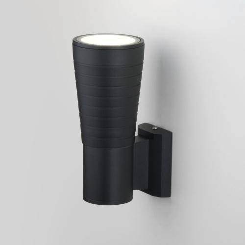 Tube uno черный уличный настенный светодиодный светильник 1503 TECHNO LED