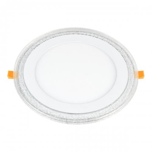Встраиваемый потолочный светодиодный светильник DLR024 12+6W 4200K