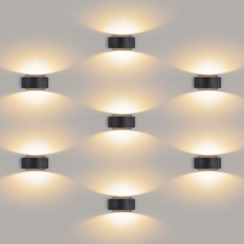 Blinc черный уличный настенный светодиодный светильник 1549 TECHNO LED