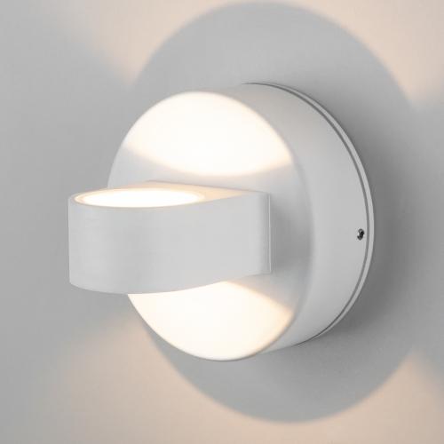 Glow белый уличный настенный светодиодный светильник 1523 TECHNO LED