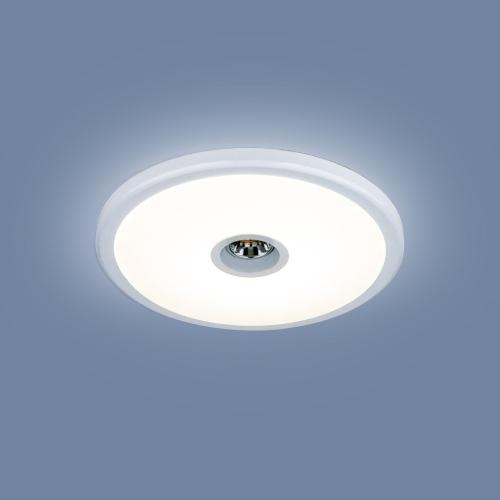 Встраиваемый точечный светодиодный светильник 9912 LED 6+4W WH белый