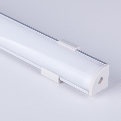 Угловой алюминиевый профиль для светодиодной ленты LL-2-ALP008