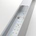 Линейный светодиодный накладной односторонний светильник 128см 25Вт 6500К матовое серебро 101-100-30-128