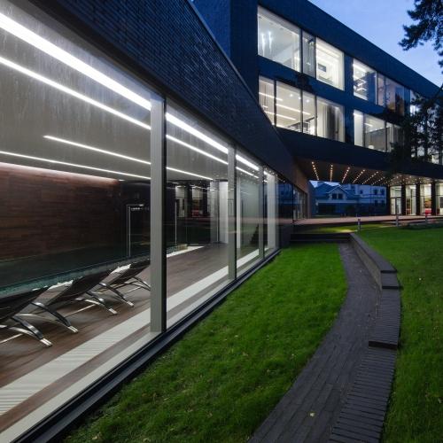 Линейный светодиодный встраиваемый светильник 53см 10Вт 3000К матовое серебро 101-300-53