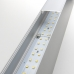 Линейный светодиодный накладной двусторонний светильник 78см 30Вт 6500К матовое серебро 101-100-40-78