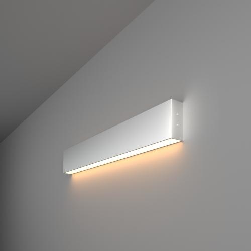 Линейный светодиодный накладной односторонний светильник 53см 10Вт 3000К матовое серебро 101-100-30-53