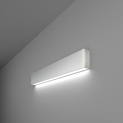 Линейный светодиодный накладной односторонний светильник 53см 10Вт 6500К матовое серебро 101-100-30-53