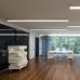 Линейный светодиодный накладной односторонний светильник 128см 25Вт 4200К матовое серебро 101-100-30-128
