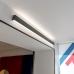 Линейный светодиодный накладной двусторонний светильник 78см 30Вт 6500К черная шагрень 101-100-40-78