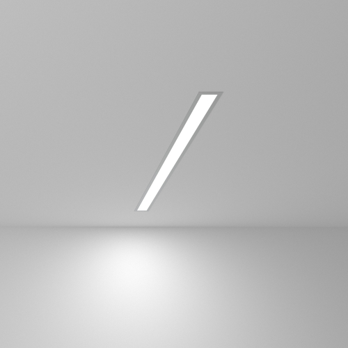 Линейный светодиодный встраиваемый светильник 78см 15Вт 6500К матовое серебро 101-300-78