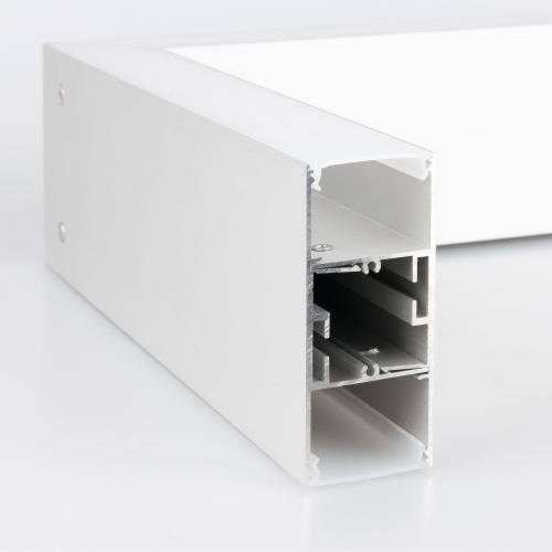 Линейный светодиодный накладной односторонний светильник 78см 15Вт 3000К матовое серебро 101-100-30-78