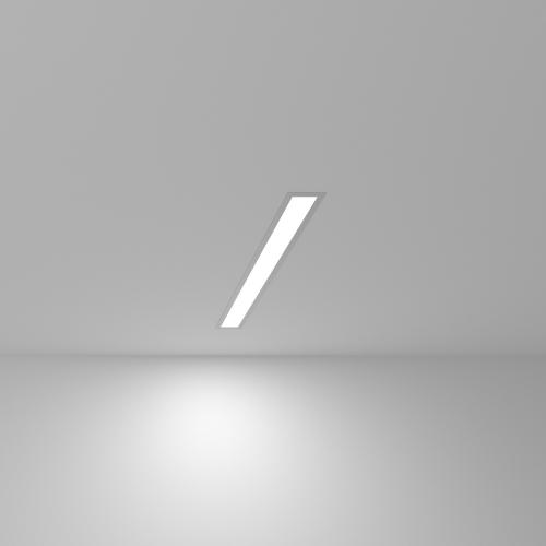 Линейный светодиодный встраиваемый светильник 53см 10Вт 6500К матовое серебро 101-300-53